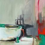 Fürdő! – olaj, vászon, 60 x 65 cm, 2012