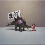Jagicza Patrícia: St.Ego, 30x40, olajvaszon, 2014